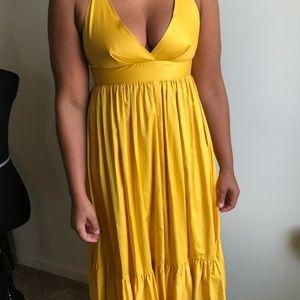 JCrew yellow dress